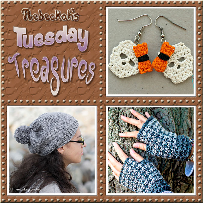 Tuesday Treasures #15 via @beckastreasures with @divinedebrisweb @LittleMCrochet & @patternparadise | Come see 3 popular crochet pattern designs of today!