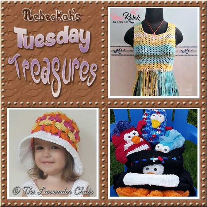 Come see this week's treasures at Rebeckah's 7th Tuesday Treasures via @beckastreasures | Featuring @MazKwok @LavenderChair & @SnappyTots | #crochet #treasures