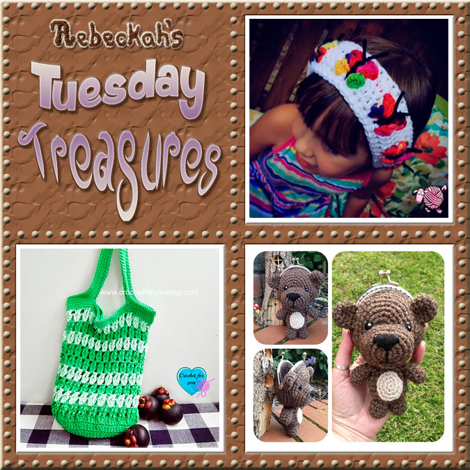 Come see this week's treasures at Rebeckah's 8th Tuesday Treasures via @beckastreasures | Featuring @dearestdebi @erangi_udeshika & @lauralovescrochet | #crochet #treasures