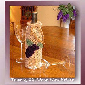 Tuscany Old World Wine Holder - Crochet Pattern by @crochetmemories Featured at Crochet Memories - Sponsor Spotlight Round Up via @beckastreasures | #fallintochristmas2016 #crochetcontest #spotlight #crochet #roundup