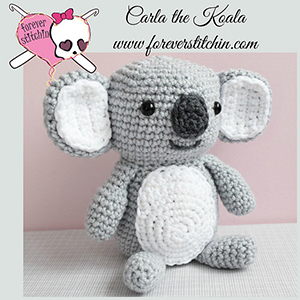 Carla the Koala - Crochet Pattern by @foreverstitchin | Featured at Forever Stitchin - Sponsor Spotlight Round Up via @beckastreasures | #fallintochristmas2016 #crochetcontest #spotlight #crochet #roundup