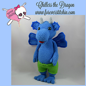 Chillers the Dragon Amigurumi - Crochet Pattern by @foreverstitchin | Featured at Forever Stitchin - Sponsor Spotlight Round Up via @beckastreasures | #fallintochristmas2016 #crochetcontest #spotlight #crochet #roundup