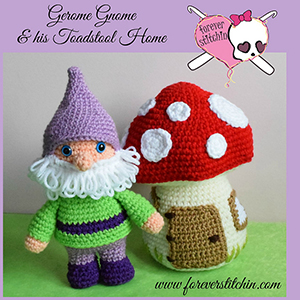 Gnome and Toadstool Amigurumi - Crochet Pattern by @foreverstitchin | Featured at Forever Stitchin - Sponsor Spotlight Round Up via @beckastreasures | #fallintochristmas2016 #crochetcontest #spotlight #crochet #roundup