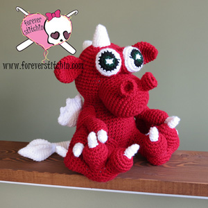Sizzle the Dragon Amigurumi | Friday Feature #8 via @beckastreasures with @ForeverStitchin#crochet
