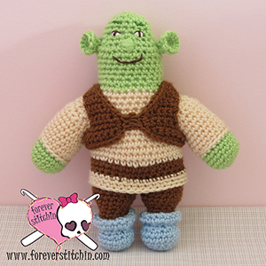 Shrek - Free Crochet Pattern by @foreverstitchin | Featured at Forever Stitchin - Sponsor Spotlight Round Up via @beckastreasures | #fallintochristmas2016 #crochetcontest #spotlight #crochet #roundup