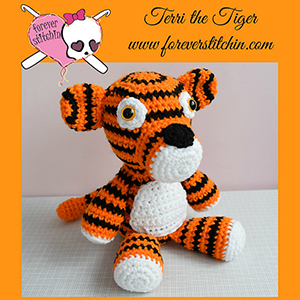 Terri the Tiger - Crochet Pattern by @foreverstitchin | Featured at Forever Stitchin - Sponsor Spotlight Round Up via @beckastreasures | #fallintochristmas2016 #crochetcontest #spotlight #crochet #roundup