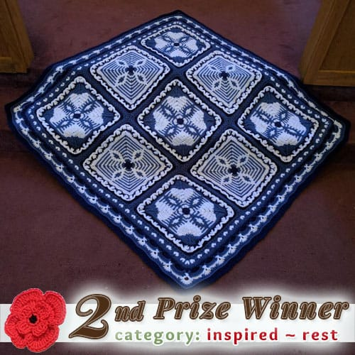 Lora Streeter - Power of Love Afghan | 2nd Prize in the REST Category at @beckastreasures | Fall into Christmas Crochet Contest 2016 (October 30th - December 21st)