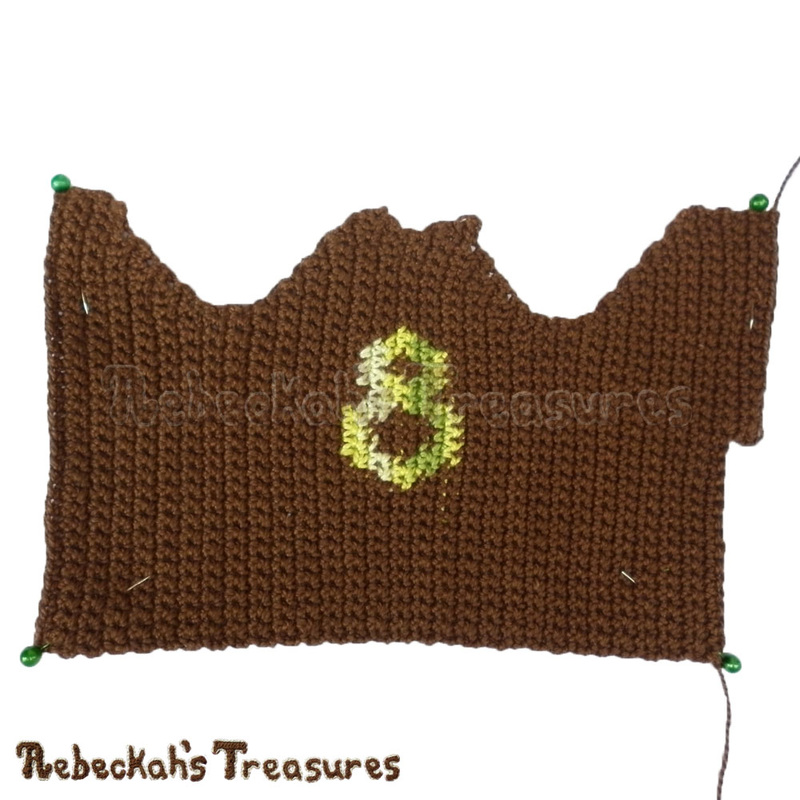 Working on Fashion Dude Running Tops - Brown with Green 8 - via @beckastreasures | Crochet patterns to come...