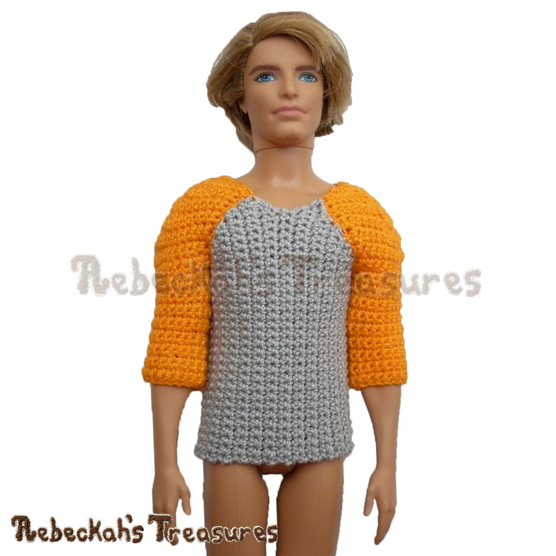 Working on Fashion Dude Running Tops - Gray with Orange Sleeves - via @beckastreasures | Crochet patterns to come...